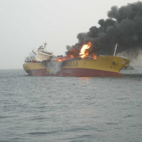Stolt Valor ship fire