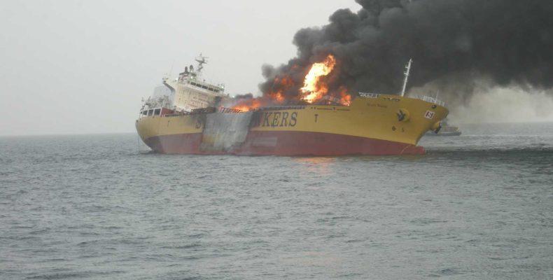 Stolt Valor ship fire
